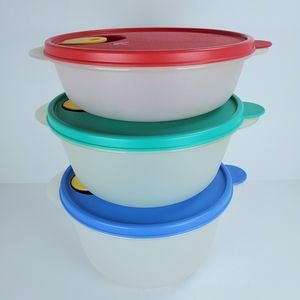 Vintage Tupperware Crystalwave Bowls Containers